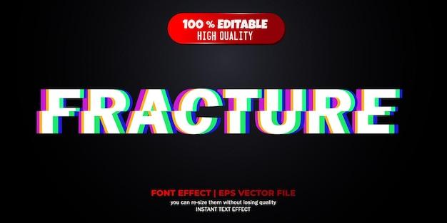 Breuk bewerkbaar lettertype-effect