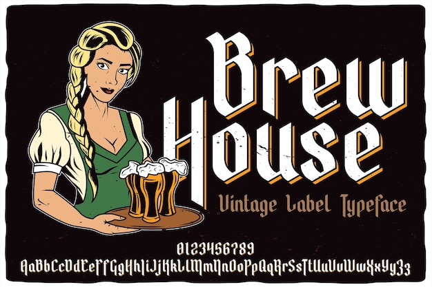 Brew house label