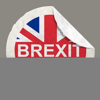 Brexit britse referendum concepten symbool op een papieren label