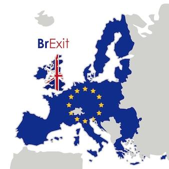 Brexit van het pictogram van de europese unie. thema europese natie en overheid. kleurrijk ontwerp. vector illu