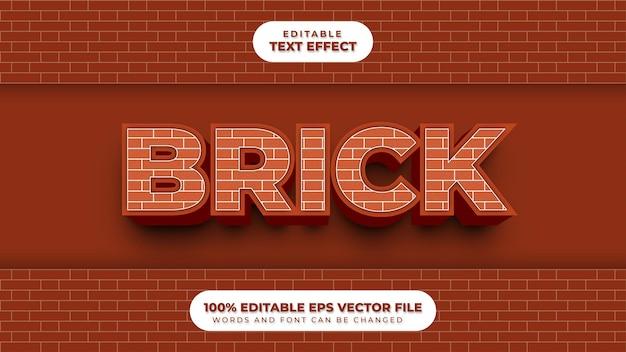 Brick 3d-teksteffect