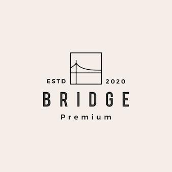 Bridge hipster vintage logo pictogram illustratie