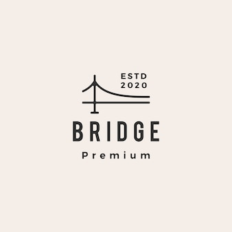 Bridge hipster vintage logo pictogram illustratie
