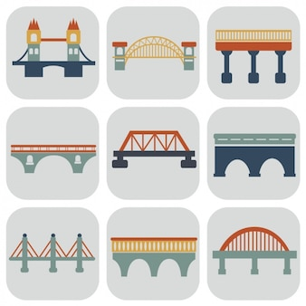 Bridges iconen collectie