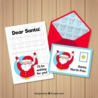Brief aan de kerstman in de noordpool