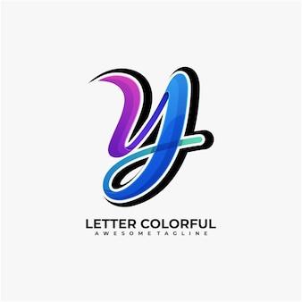 Brief abstract logo ontwerp modern kleurrijk