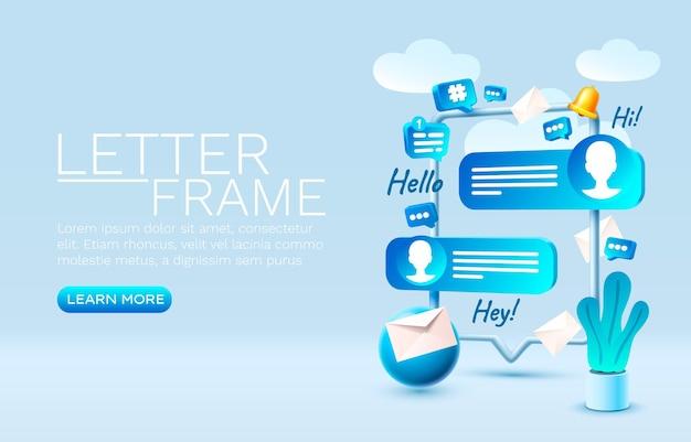 Brief chat smartphone mobiel scherm technologie mobiel display vector