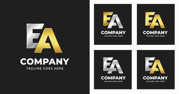 Brief ea logo ontwerpsjabloon