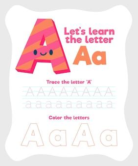 Brief een werkbladsjabloon