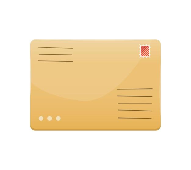 Brief in een papieren envelop op wit wordt geïsoleerd