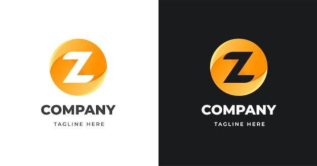 Brief logo ontwerpsjabloon met cirkel vormstijl