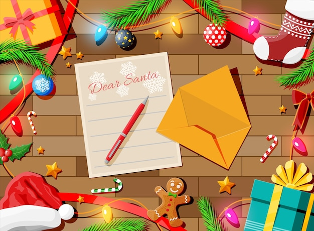 Brief met wensen aan de kerstman