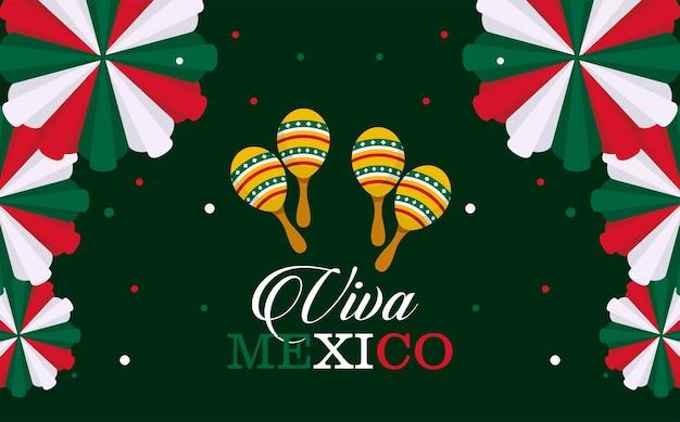Briefkaart van de onafhankelijkheidsdag van mexico