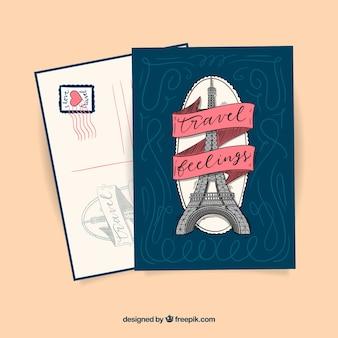 Briefkaart van de reis