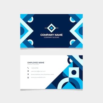 Briefpapier klassiek blauw visitekaartje