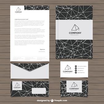 Briefpapier met geometrische vormen