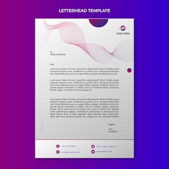 Briefpapier met gradiënt abstracte technologie