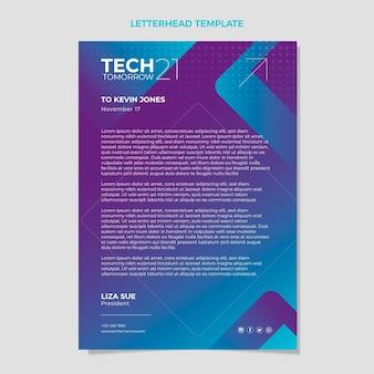 Briefpapier met halftoontechnologie met kleurovergang
