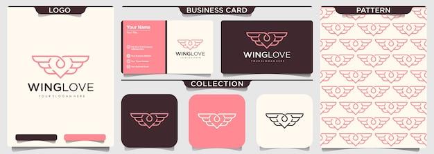 Briefpapier set hart en vleugels collectie