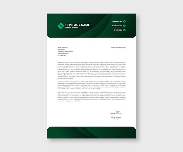 Briefpapier stationaire zakelijke sjabloon