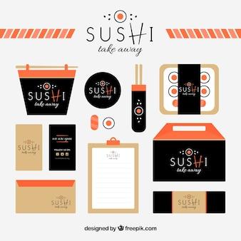 Briefpapier van sushi restaurant