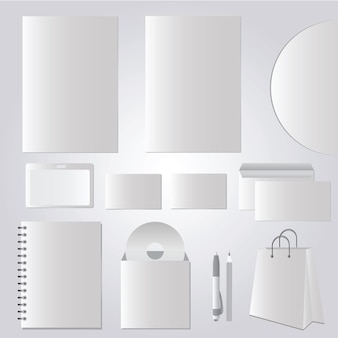Briefpapierontwerp, bedrijfssjablonen fotorealistisch - vectorset