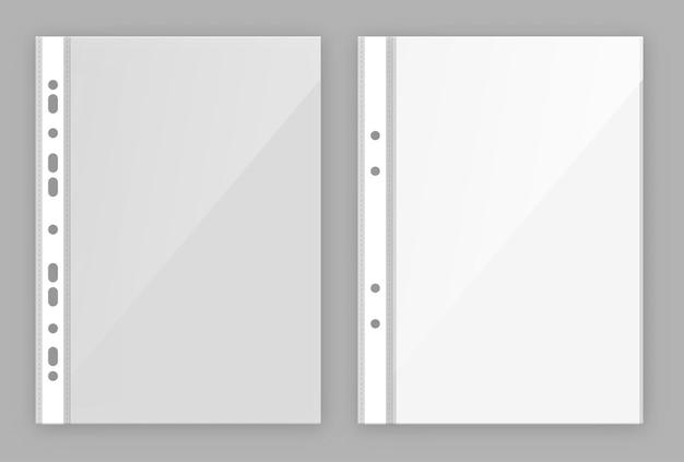 Briefpapiertas voor het bewaren en beschermen van papieren documenten met perforaties
