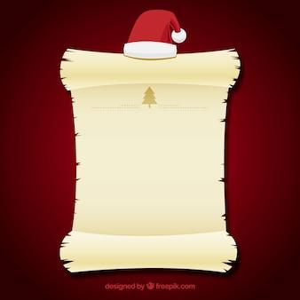 Briefsjabloon met een kerstmuts
