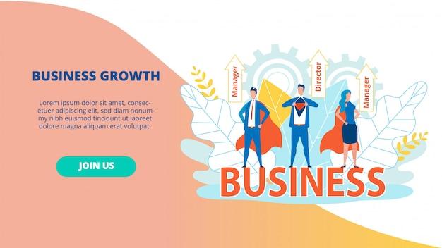 Bright flyer directeur bedrijfsgroei.