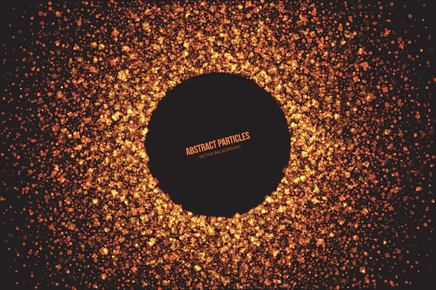 Bright golden shimmer deeltjes abstracte vector achtergrond