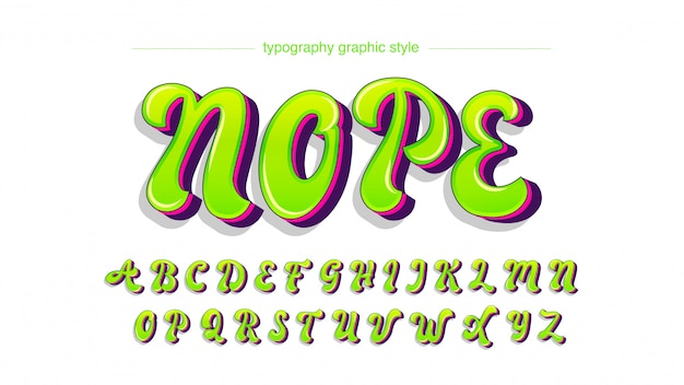 Bright neon green graffiti typografie in hoofdletters