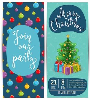 Bright promotie flyer voor club christmas party