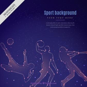 Bright sport silhouetten achtergrond