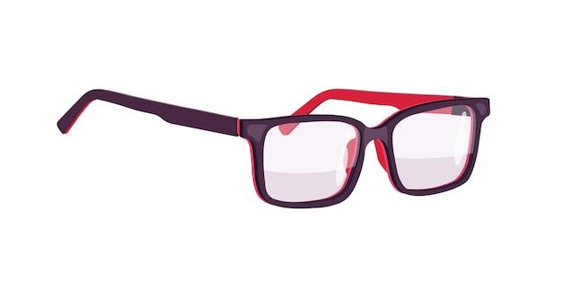 Bril. bril. zwarte velgen. illustratie.