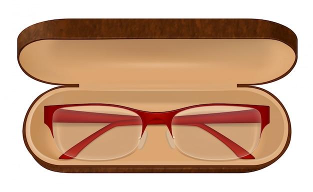 Brillen in case illustratie
