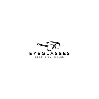 Brillenlogo, modern eenvoudig en schoon oogglas met logo
