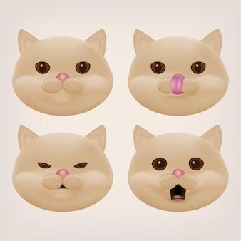 Brits korthaar crème kat kitty hoofd karakter