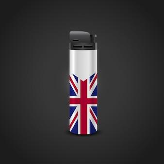 Brits vlagontwerp met lichtere vector