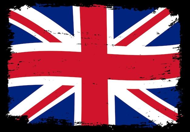 Britse grunge vlag achtergrond Premium Vector