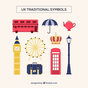 Britse traditionele symbolen