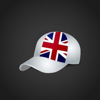 Britse vlag ontwerp cap vector