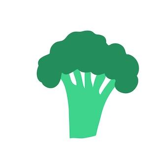 Broccoli doodle stijl vector element handdraw illustratie