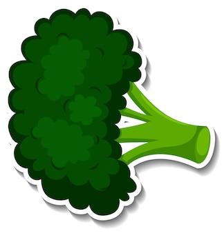 Broccolisticker op witte achtergrond
