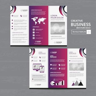 Brochure bedrijf drievoudige folder