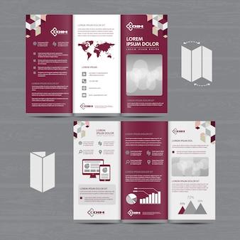 Brochure bedrijf drievoudige leaflet flyer