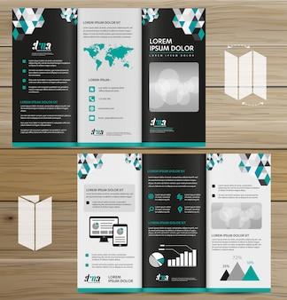 Brochure bedrijf tri fold leaflet