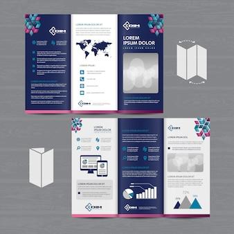Brochure bedrijf tri-fold