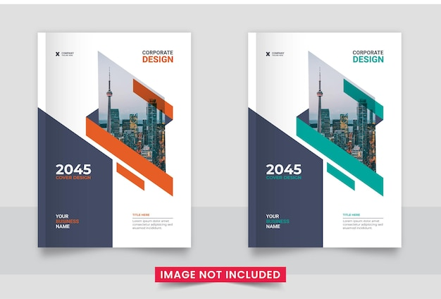 Brochure boekomslag sjabloonontwerp lay-out in a4-formaat