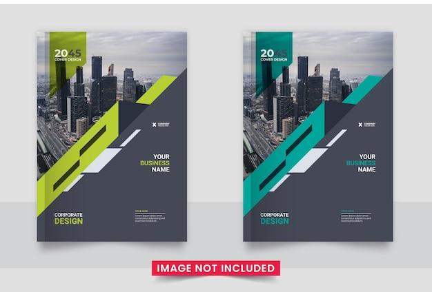 Brochure boekomslag sjabloonontwerp set in a4-formaat