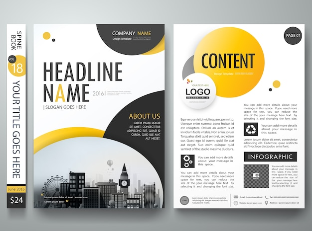 Brochure dekking boek flyers portfolio poster lay-out